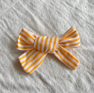 bebe bow clip (yellow stripy)