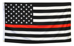 3 by 5 foot Red Line Flag - The Proud Republican