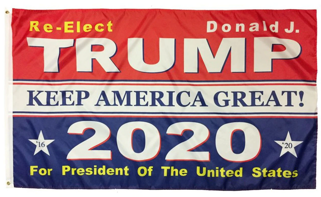 "3 by 5 Foot ""Re-Elect Donald J. Trump"" Flag - The Proud Republican"
