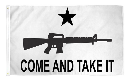 "3 by 5 foot ""Come And Take It"" M4 Carbine Flag - The Proud Republican"
