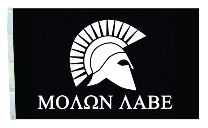 "3 by 5 foot ""Molon Labe"" Flag - The Proud Republican"