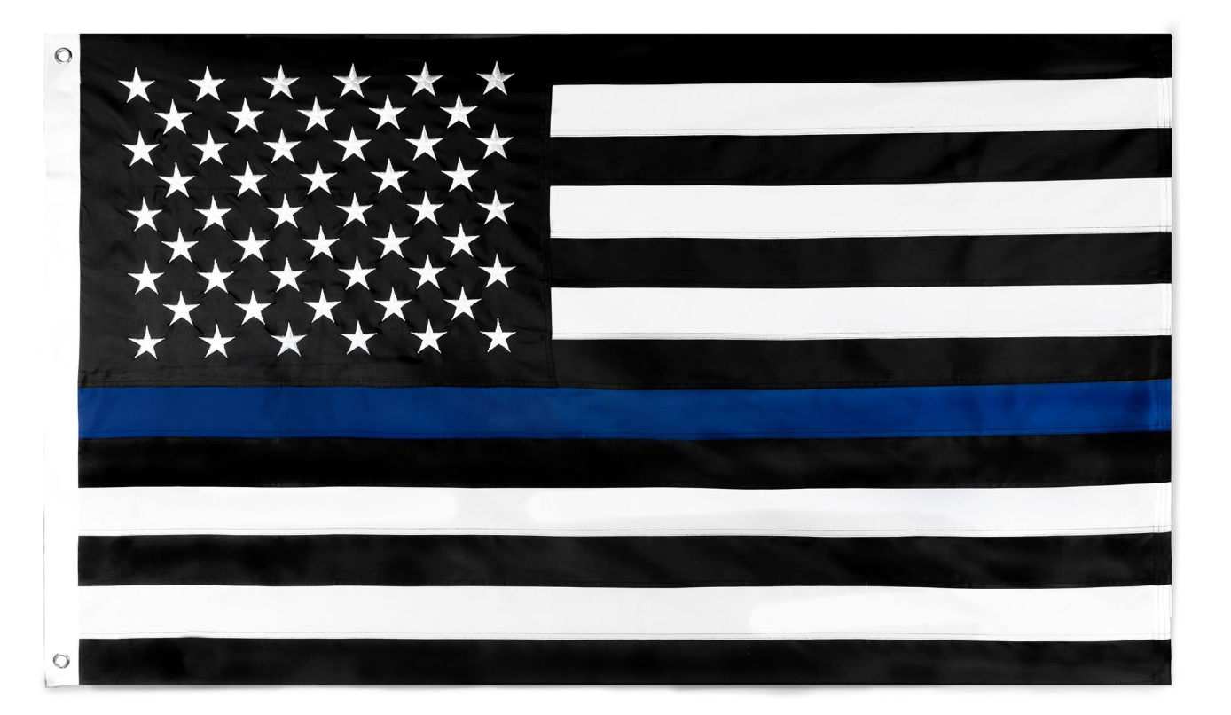 3 by 5 foot Thin Blue Line Flag - The Proud Republican