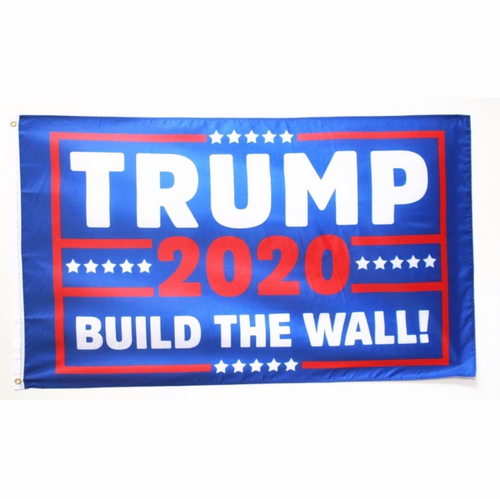 "3 by 5 foot Trump ""Build The Wall"" Flag - The Proud Republican"