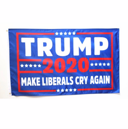 "3 by 5 foot Trump ""Build The Wall"" Flag"