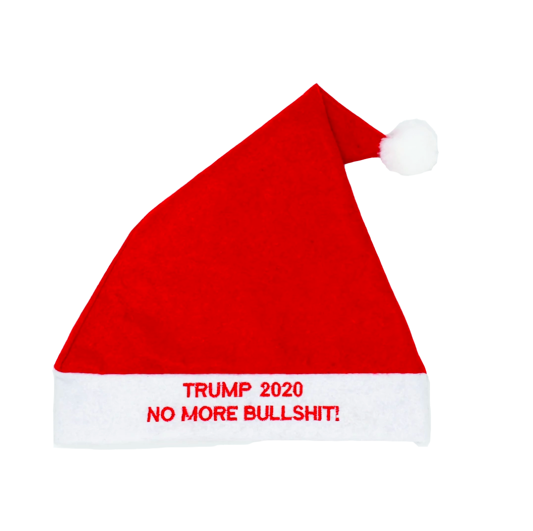 "Trump 2020 ""No More Bullshit!"" Santa Hat - The Proud Republican"