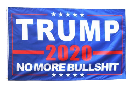 "Trump 2020 ""No More Bullshit!"" Santa Hat"