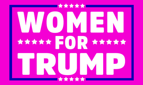 "3 by 5 foot Trump ""Women For Trump"" Flag - The Proud Republican"