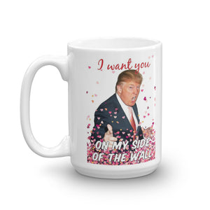 "Donald Trump Valentine's Day ""The Wall"" Mug - The Proud Republican"