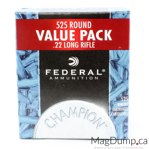 Federal Premium 22LR 36GR Copper Plated 525 Round Value Pack