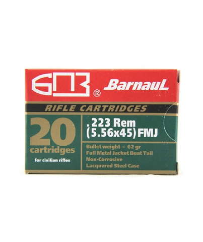 Barnaul, .223 Remington, 62 GR, Full Metal Jacket (20 Rounds)