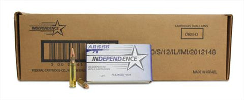 Federal Independence XM193 5.56 NATO 55gr FMJ - 500 Rounds