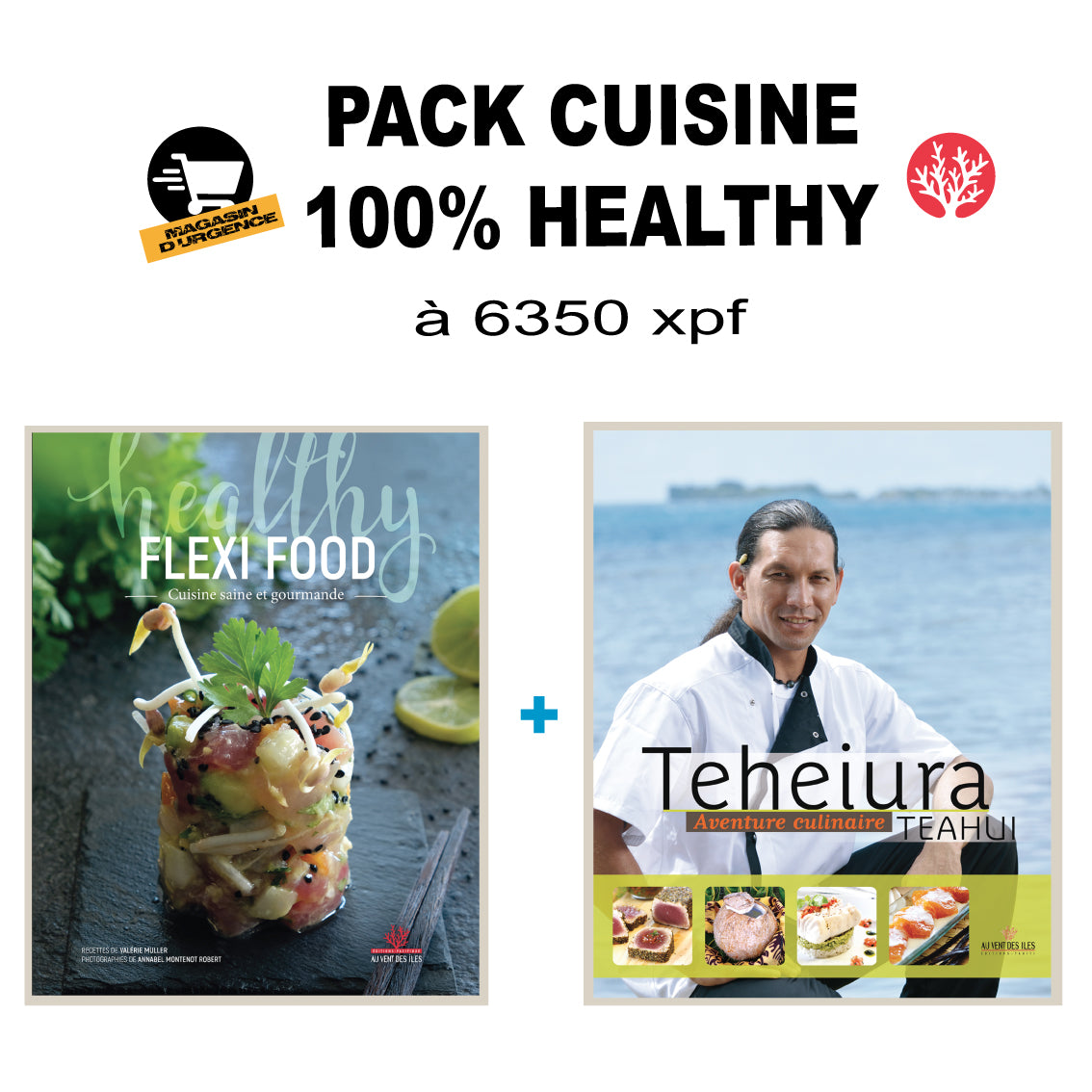 PACK Livres Cuisine 100% Healthy