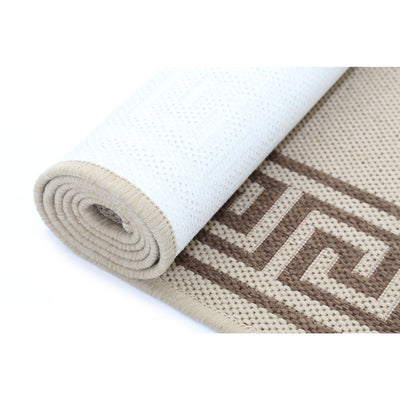 Sisal Cream Greek Key Outdoor/Indoor Rug