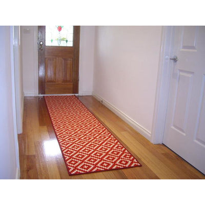 Diamond Pattern Hallway Runner