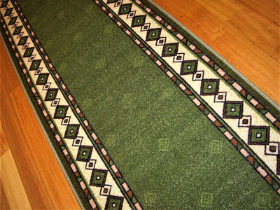 On Sale Diamond Green Dot Hallway Runner 67cm Wide By The Meter