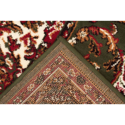 Traditional All Over Pattern Rug Green