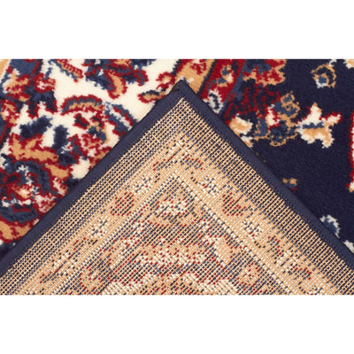 Traditional All Over Design Navy Rug