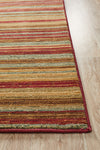 Rustic Stripe Stripped Rug Red