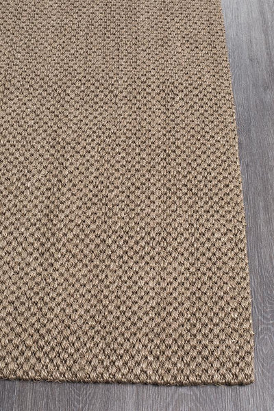 Natural Sisal Rug Tiger Eye Brown