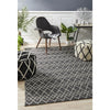 Deepa Stunning Wool Rug Black White