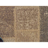Patchwork Design Brown Rug