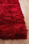 Plush Luxury Shag Rug Red