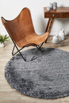 Plush Luxury Shag Rug Black White Mix