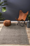 Carlos Felted Wool Rug Brown Natural