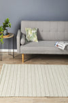 Hellena Braied Grey Felted Wool Rug