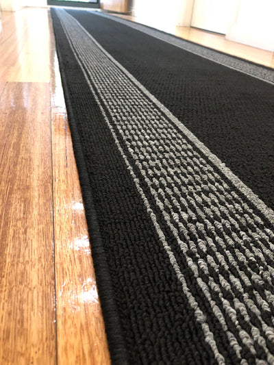 Vienna Black Hall Runner 67cm Wide Free Delivery Australia Wide