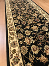 Agrabah Black Cream Traditional Hall Runner