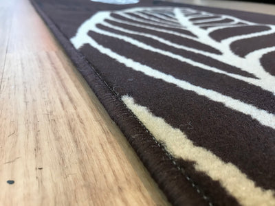Dark Brown Queen Leaf Hall Runner 80cm Wide plus Free Delivery