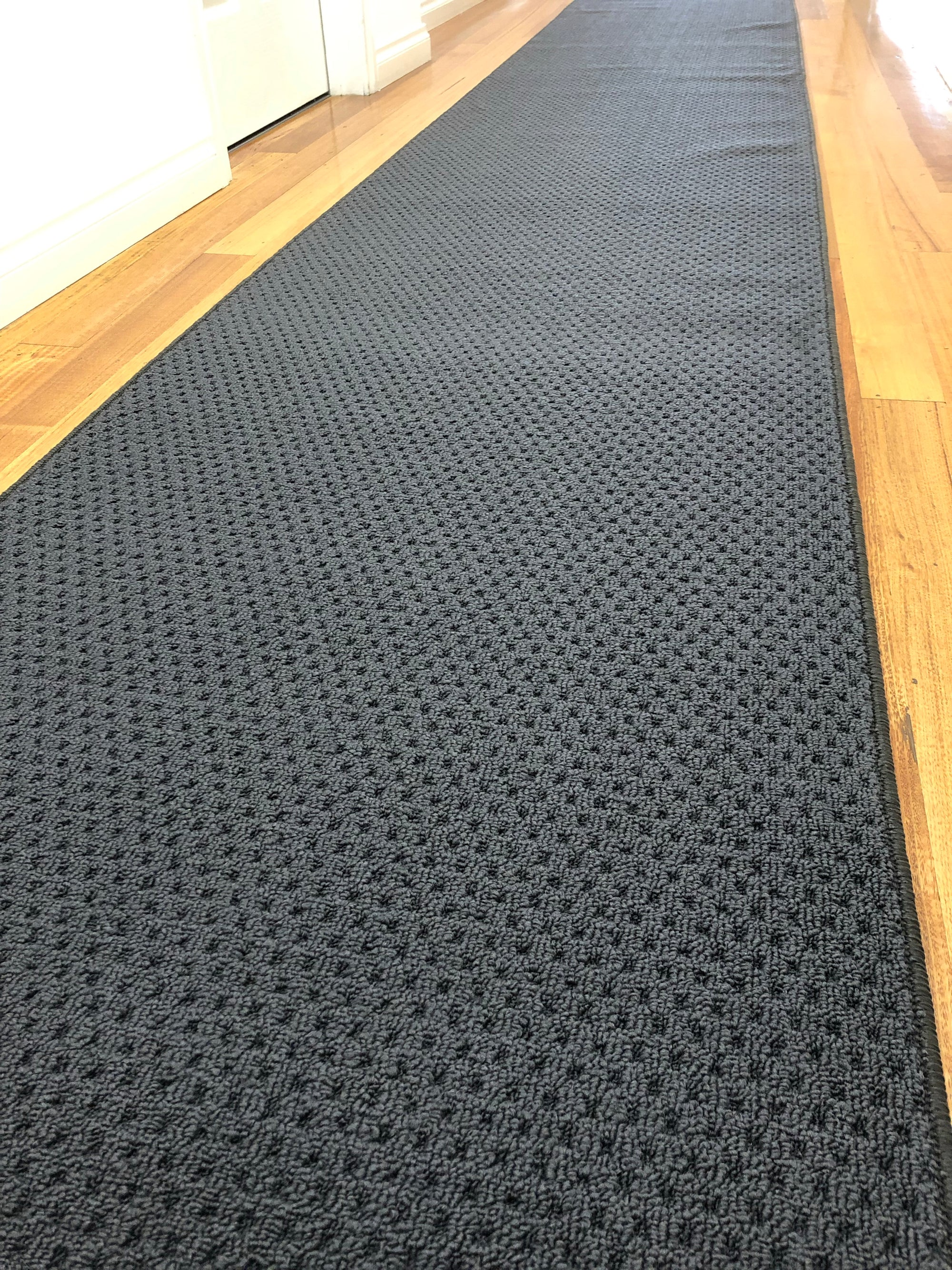 Pablo Charcoal Carpet Hall Runner Rug