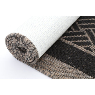 Sisal Black Natural Basket Weave Rug