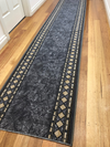 Paz Diamond Grey Hallway Runner Rug 67cm Wide By The Meter