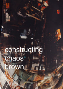 Fraser Crowe Swatch art print Constructing Chaos Brown, ethical fashion, sustainable fashion, designer clothes, plus size clothing, textile print clothing, luxury online fashion, slow fashion