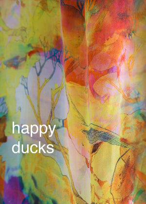 Fraser Crowe Swatch art print Happy Ducks, ethical fashion, sustainable fashion, designer clothes, plus size clothing, textile print clothing, luxury online fashion, slow fashion