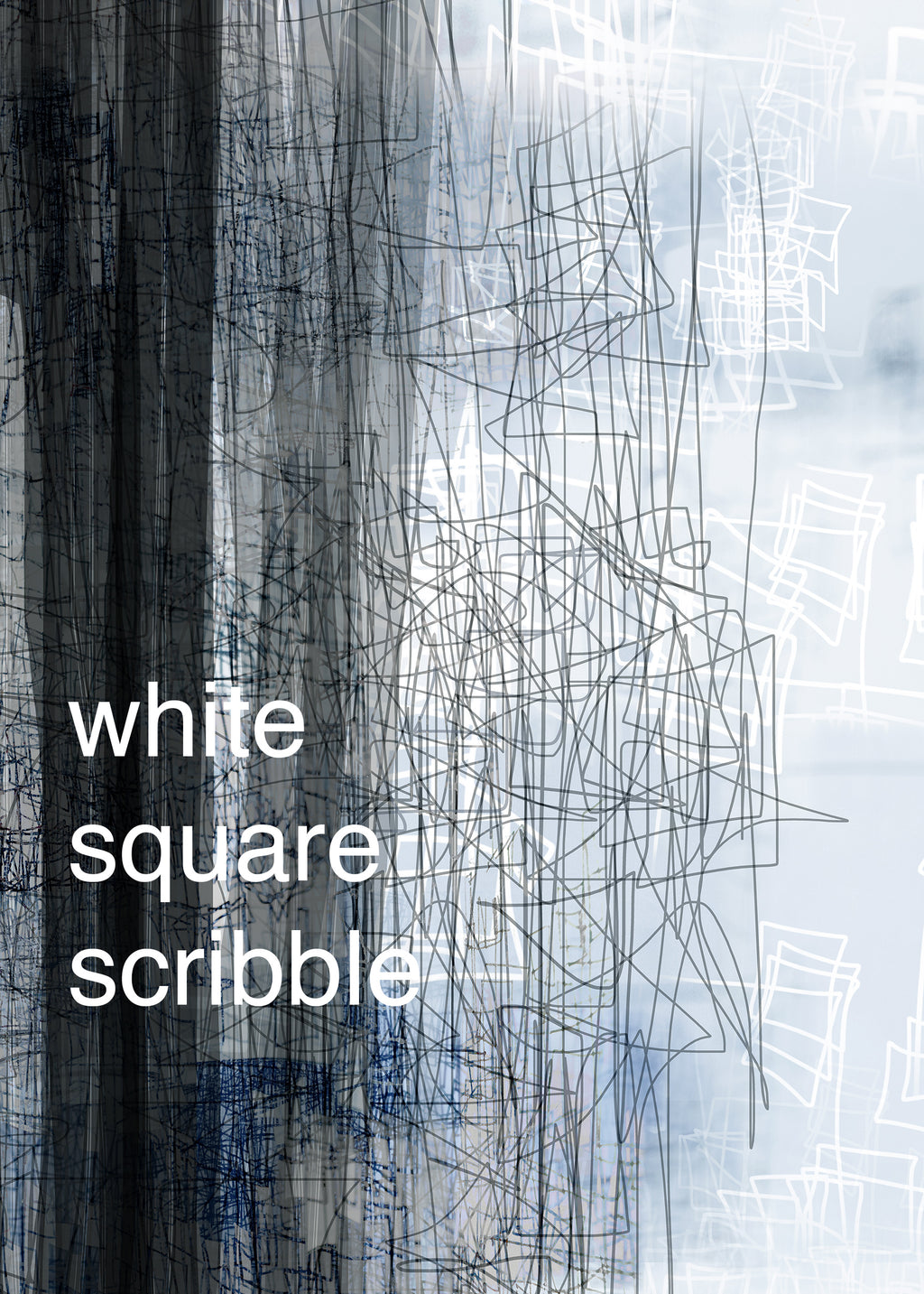 Fraser Crowe Swatch art print White Square Scribble, ethical fashion, sustainable fashion, designer clothes, plus size clothing, textile print clothing, luxury online fashion, slow fashion
