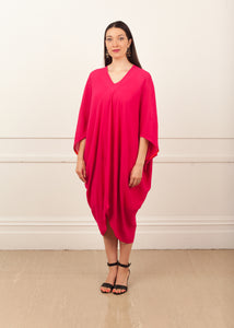 Fraser Crowe Diamond Dress Viscose Pink, ethical fashion, sustainable fashion, designer clothes, plus size clothing, textile print clothing, luxury online fashion, slow fashion