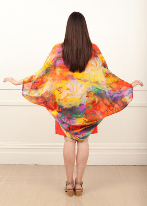 Fraser Crowe Featherweight Kimono Happy Ducks ethical fashion, sustainable fashion, designer clothes, plus size clothing, textile print clothing, luxury online fashion, slow fashion