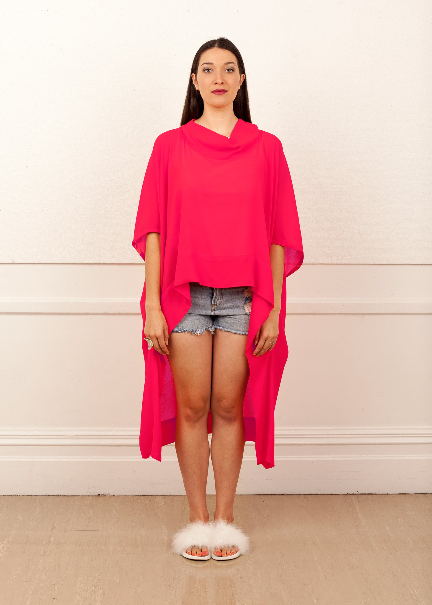 Fraser Crowe It's All Academic Top Pink, ethical fashion, sustainable fashion, designer clothes, plus size clothing, textile print clothing, luxury online fashion, slow fashion