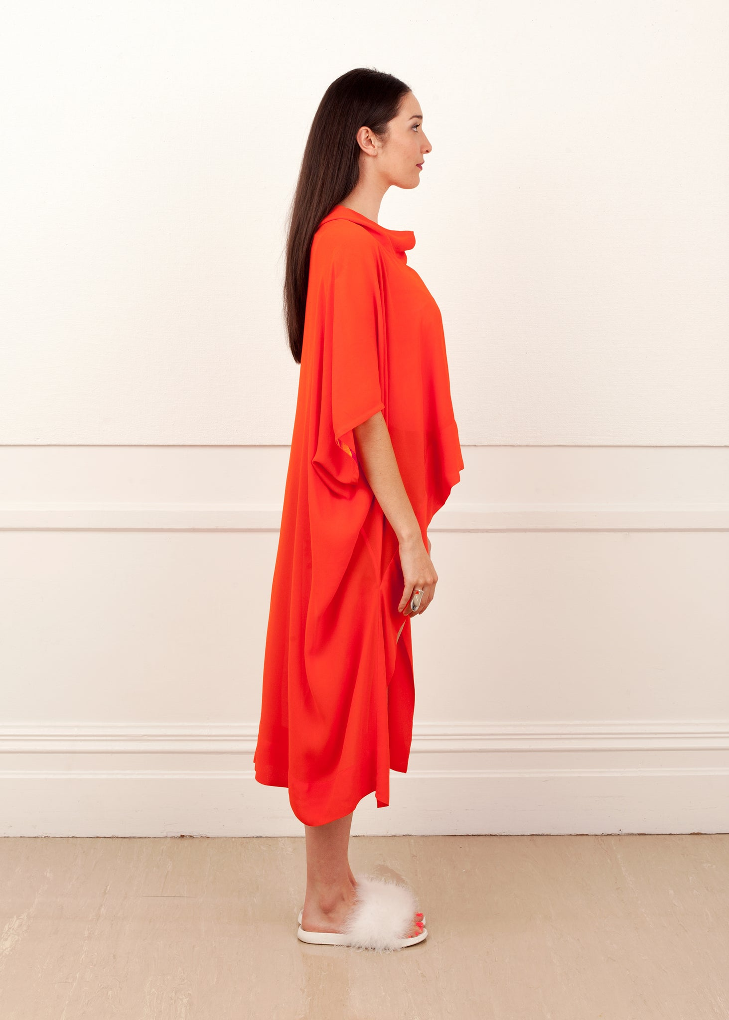 Fraser Crowe It's All Academic Top Orange, ethical fashion, sustainable fashion, designer clothes, plus size clothing, textile print clothing, luxury online fashion, slow fashion