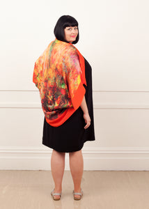 Kimono Shrug Monday Colour, ethical fashion, sustainable fashion, designer clothes, plus size clothing, textile print clothing, luxury online fashion, slow fashion