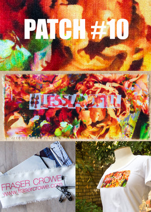 #lesslandfill Patch 10 details -ethical fashion, sustainable fashion, designer clothes, plus size clothing, textile print clothing, luxury online fashion, slow fashion