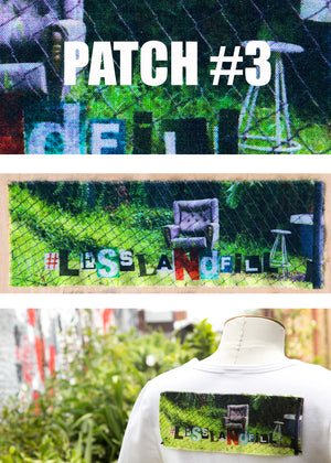 #lesslandfill Patch 3 details -ethical fashion, sustainable fashion, designer clothes, plus size clothing, textile print clothing, luxury online fashion, slow fashion