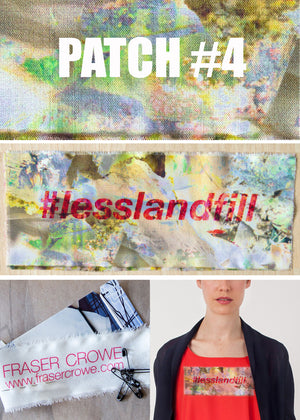 #lesslandfill Patch 4 details -ethical fashion, sustainable fashion, designer clothes, plus size clothing, textile print clothing, luxury online fashion, slow fashion