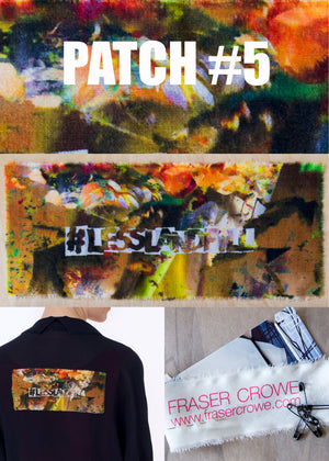 #lesslandfill Patch 5 details -ethical fashion, sustainable fashion, designer clothes, plus size clothing, textile print clothing, luxury online fashion, slow fashion