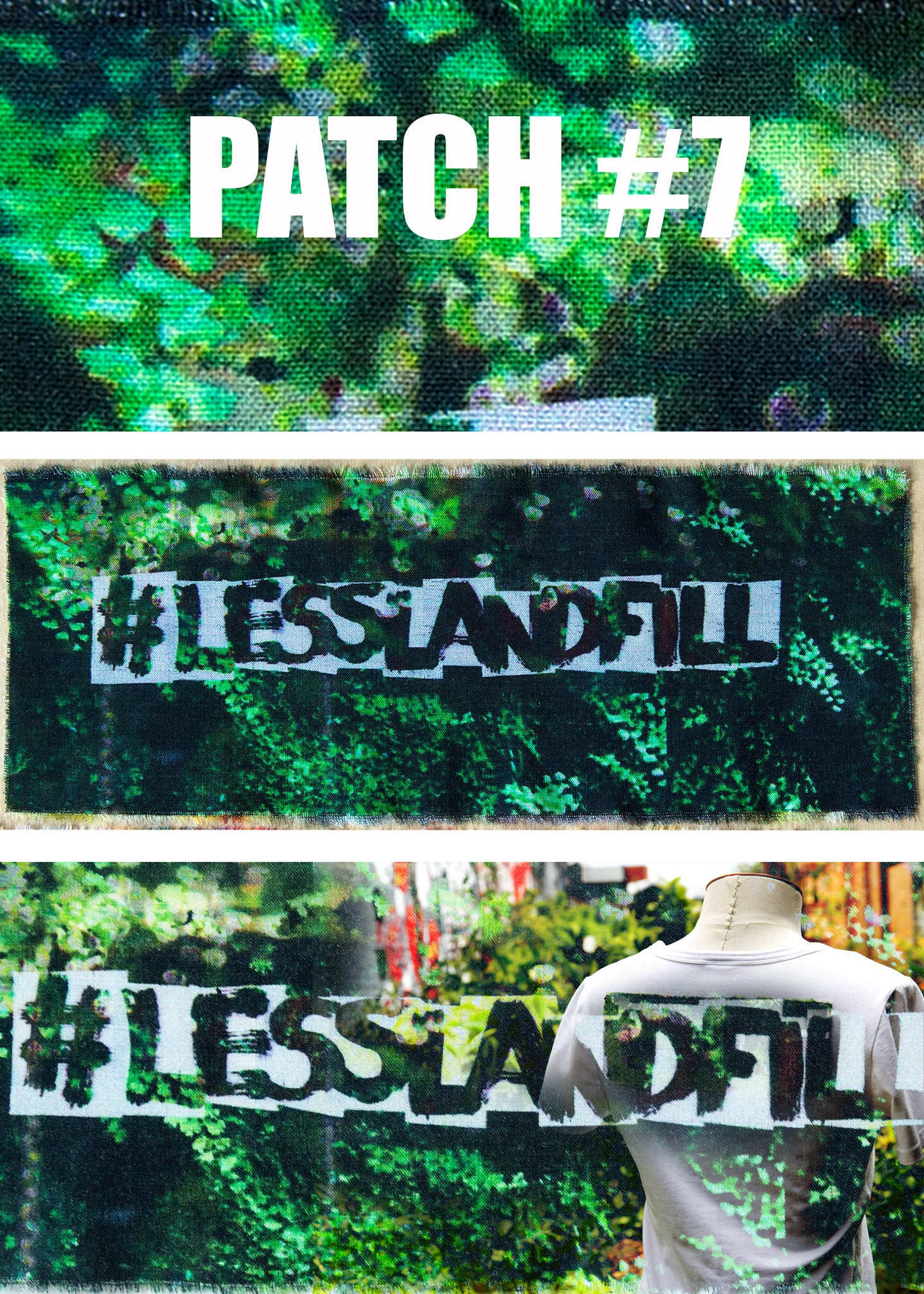 #lesslandfill Patch 7 details -ethical fashion, sustainable fashion, designer clothes, plus size clothing, textile print clothing, luxury online fashion, slow fashion