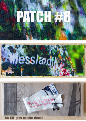 #lesslandfill Patch 8 details -ethical fashion, sustainable fashion, designer clothes, plus size clothing, textile print clothing, luxury online fashion, slow fashion