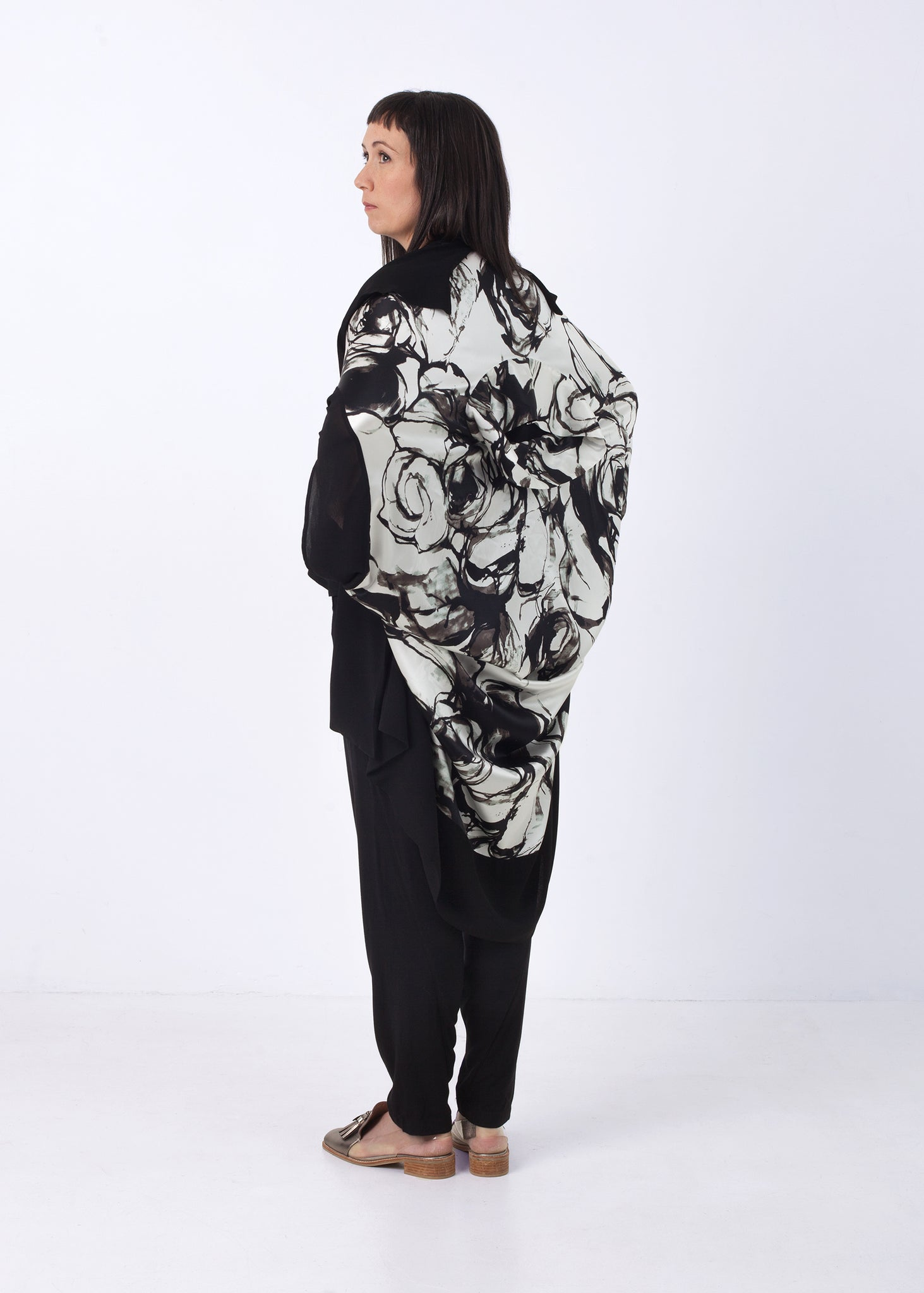 Fraser Crowe Funnel Neck Oversize Top, ethical fashion, sustainable fashion, designer clothes, plus size clothing, textile print clothing, luxury online fashion